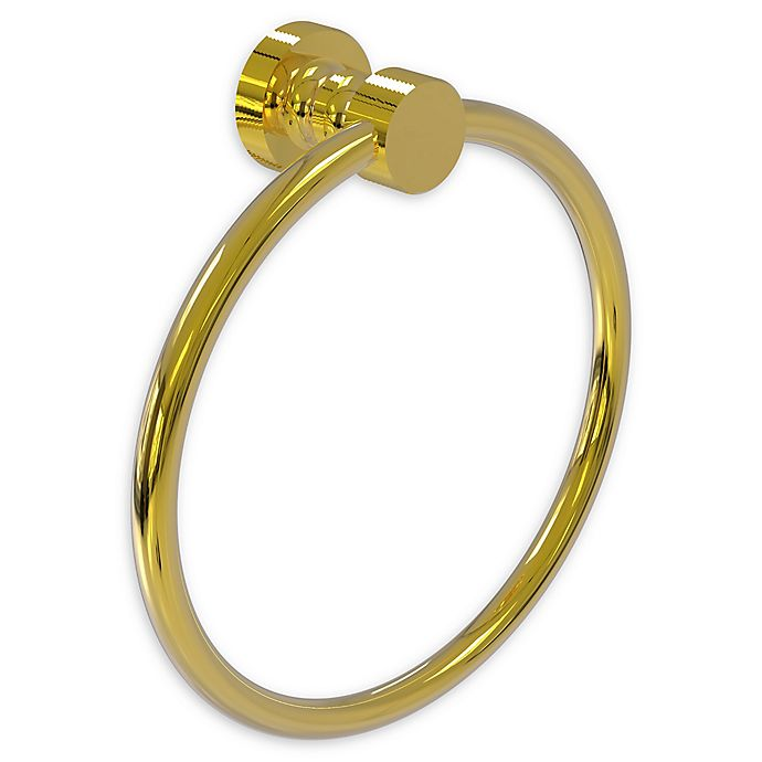 Alternate image 1 for Allied Brass Foxtrot Towel Ring in Polished Brass