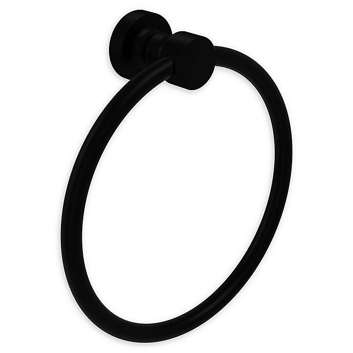 Alternate image 1 for Allied Brass Foxtrot Towel Ring in Matte Black