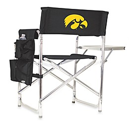 Picnic Time® University of Iowa Collegiate Folding Sports Chair in Black