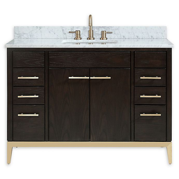 Alternate image 1 for Avanity™ Hepburn 49-Inch Vanity Combo with Carrara White Marble Top and Sink