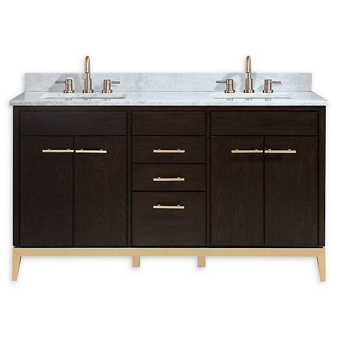 Alternate image 1 for Avanity™ Hepburn 61-Inch Vanity Combo with Carrara White Marble Top and Sink
