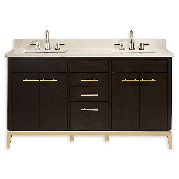 Alternate image 1 for Avanity™ Hepburn 61-Inch Vanity Combo with Crema Marfil Marble Top and Sink
