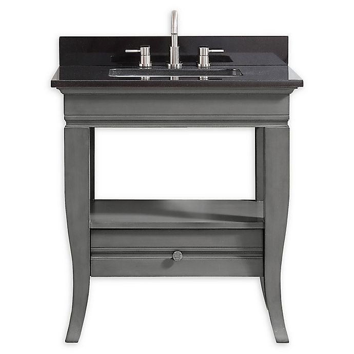 Alternate image 1 for Avanity™ Milano 31-Inch Vanity Combo with Black Granite Top and Sink
