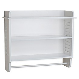 Danya B.™ Cabinet with Adjustable Shelf and Towel Bar in White
