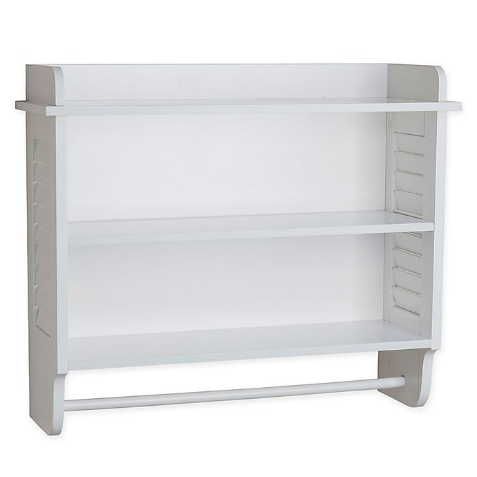 Alternate image 1 for Danya B.™ Cabinet with Adjustable Shelf and Towel Bar in White