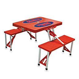 NCAA University of Mississippi Collegiate Foldable Table with Seats in Red
