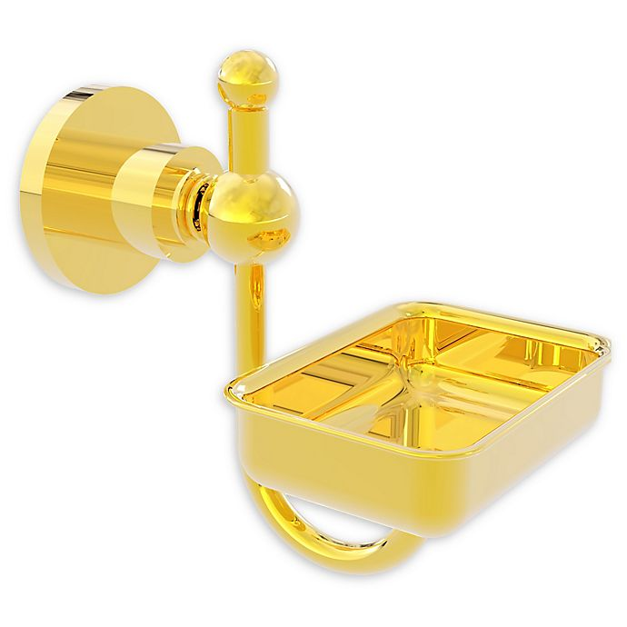 Alternate image 1 for Allied Brass Astor Place Wall Mounted Soap Dish in Polished Brass