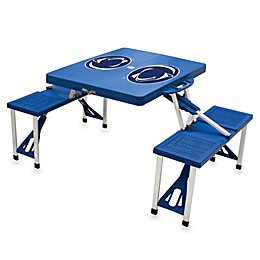 NCAA Penn State Collegiate Foldable Table with Seats in Blue