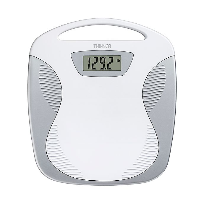Conair Thinner Portable Digital Bathroom Scale in White ...
