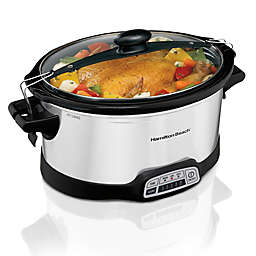 Hamilton Beach® Stay or Go Programmable Slow Cooker in Silver