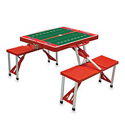 Picnic Time® Louisiana Tech University Collegiate Foldable Table with Seats in Blue