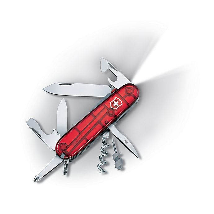Alternate image 1 for Victorinox Swiss Army Spartan Lite 15-Function Knife in Ruby Red
