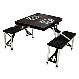 NCAA Auburn University Collegiate Foldable Table with Seats in Black