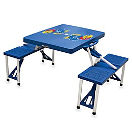 NCAA University of Kansas Collegiate Foldable Table with Seats