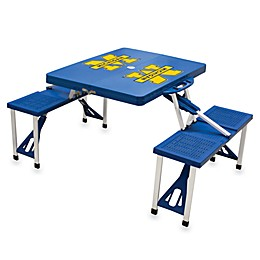 NCAA University of Michigan Collegiate Foldable Table with Seats