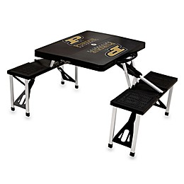 NCAA Purdue University Collegiate Foldable Table with Seats in Black