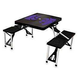 NCAA Kansas State University Collegiate Foldable Table with Seats in Black