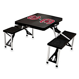 NCAA University of South Carolina Collegiate Foldable Table with Seats in Black