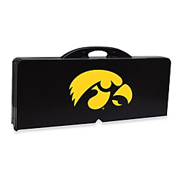 NCAA University of Iowa Collegiate Foldable Table with Seats in Black