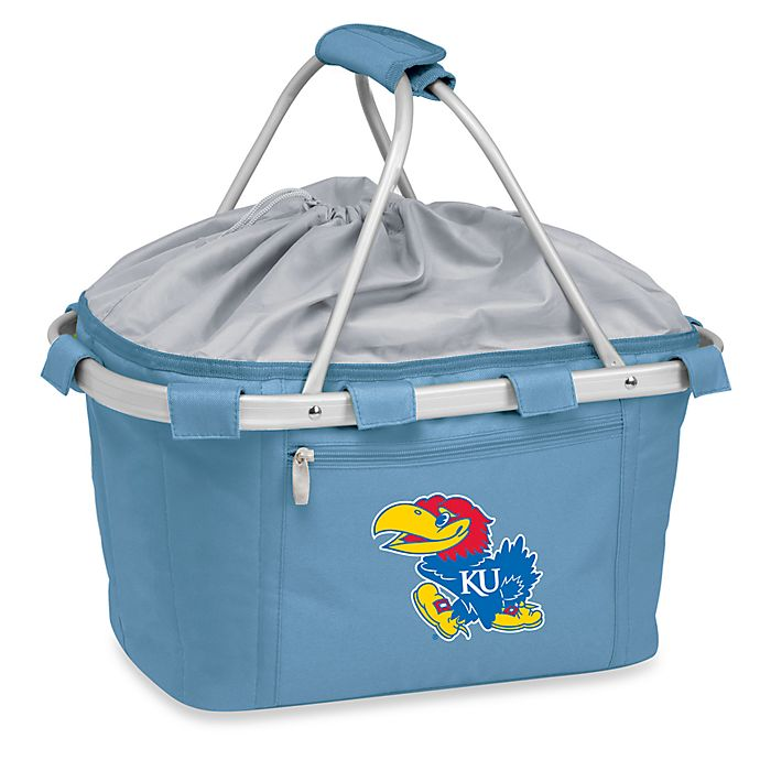 Alternate image 1 for Picnic Time® Sky Blue Collegiate Metro Basket - University of Kansas