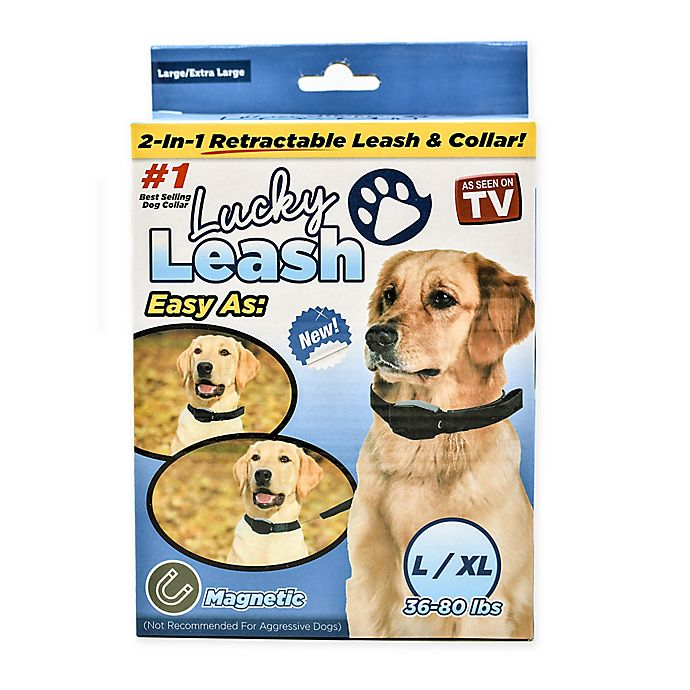 Alternate image 1 for As Seen on TV Lucky 2-in-1 Retractable Leash & Collar in Black