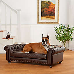 Enchanted Home™ Pet Faux Leather Wentworth Sofa in Brown