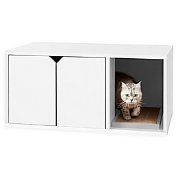 Way Basics Litter Box Cabinet with Scratching Pad