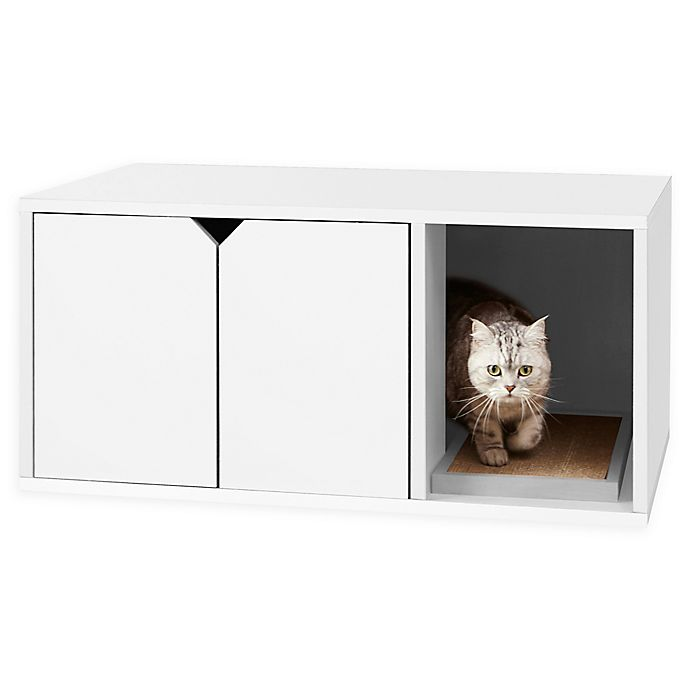 Alternate image 1 for Way Basics Litter Box Cabinet with Scratching Pad