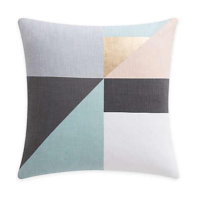 KAS Room Brixton Colorblock Throw Pillow in Grey