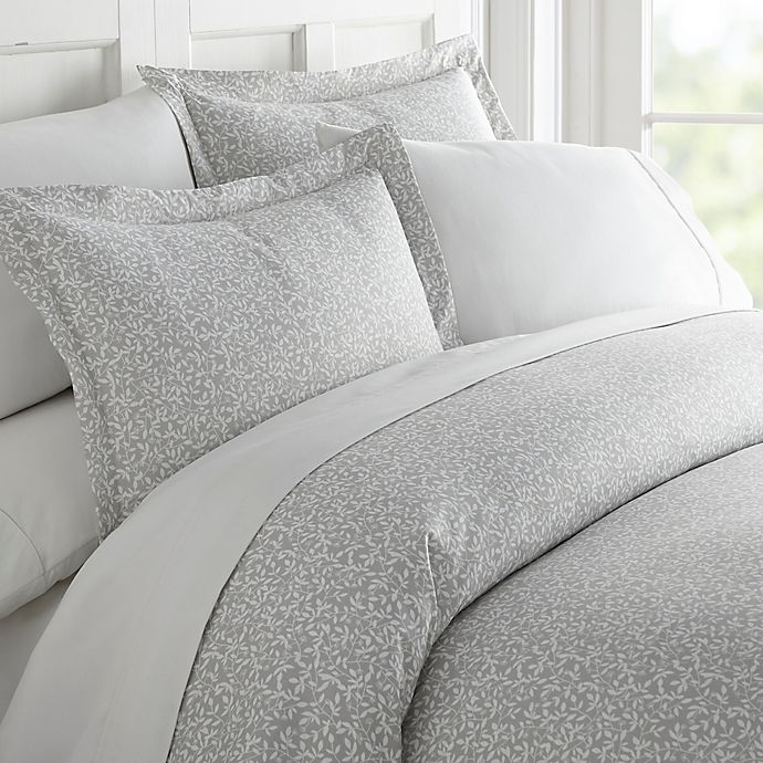Alternate image 1 for Vine Trellis 2-Piece Twin Duvet Cover Set in Grey