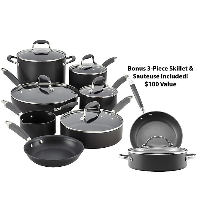 Alternate image 1 for Anolon® Advanced Hard Anodized Nonstick 12-Piece Cookware Set