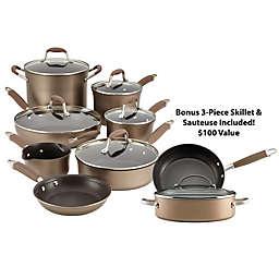 Anolon® Advanced Bronze Hard Anodized Nonstick 12-Piece Cookware Set