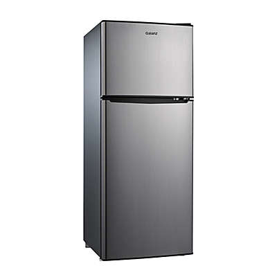 Galanz 4.6 cu. ft. Dual Door Stainless Steel Compact Refrigerator with Freezer