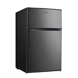 Amana® 3.1 cu. ft. Dual Door Stainless Steel Compact Refrigerator with Freezer