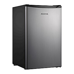 Galanz 4.3cu. ft. Single Door Compact Refrigerator with Chiller in Stainless Steel/Black