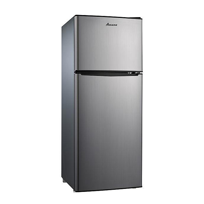 Amana 174 4 6 Cu Ft Dual Door Refrigerator With Freezer In