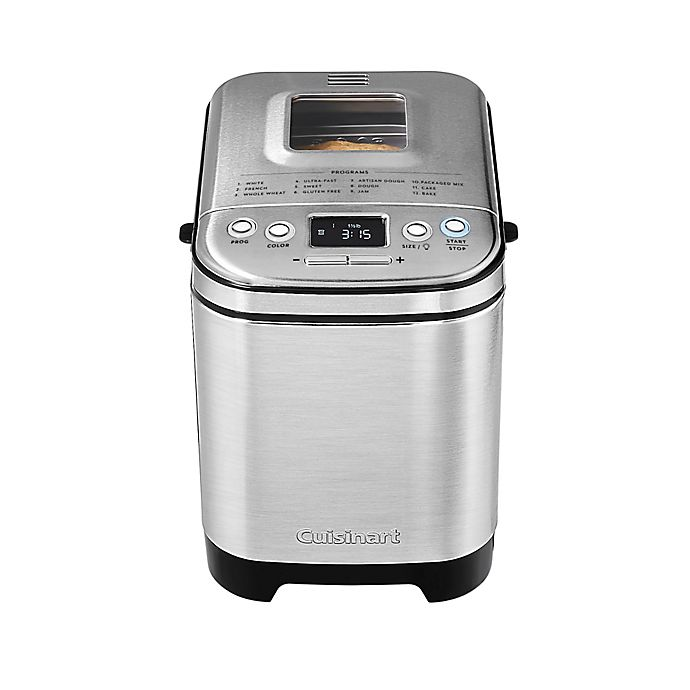 Alternate image 1 for Cuisinart® 2 lb. Stainless Steel Breadmaker