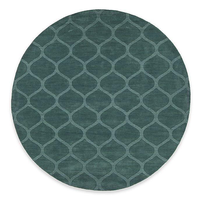 Alternate image 1 for Chandra Rugs Mystica Hand-Tufted 8' Round Area Rug in Teal