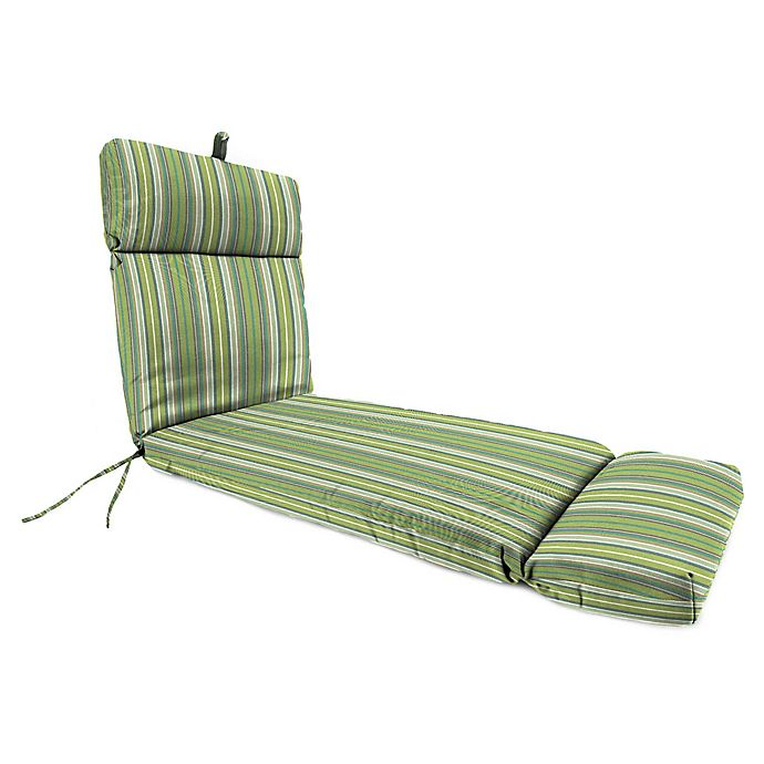Alternate image 1 for Stripe 72-Inch x 22-Inch Chaise Lounge Cushion in Sunbrella® Fabric
