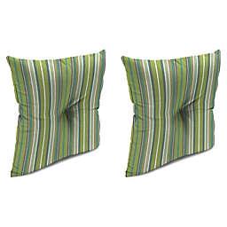 Stripe Outdoor 16-Inch Square Throw Pillows in Sunbrella®  Fabric