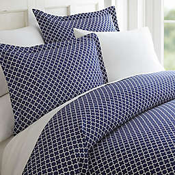Home Collection Quatrefoil Duvet Cover Set