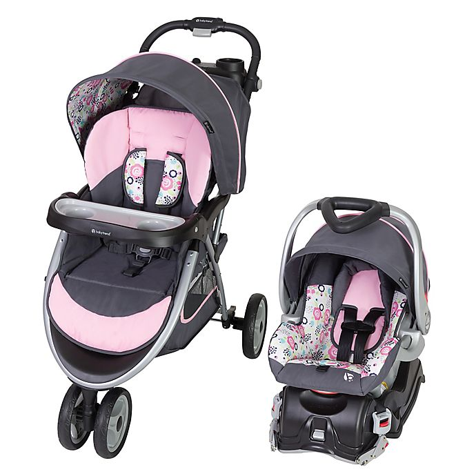 Alternate image 1 for Baby Trend® Skyview Travel System in Flora