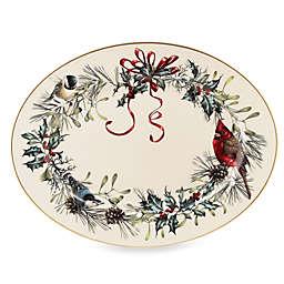 Lenox® Winter Greetings® 16-Inch Oval Platter