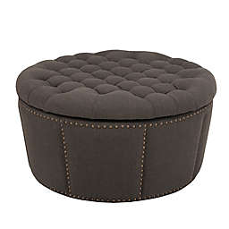 Awesome Round Storage Ottoman Bed Bath Beyond Ibusinesslaw Wood Chair Design Ideas Ibusinesslaworg