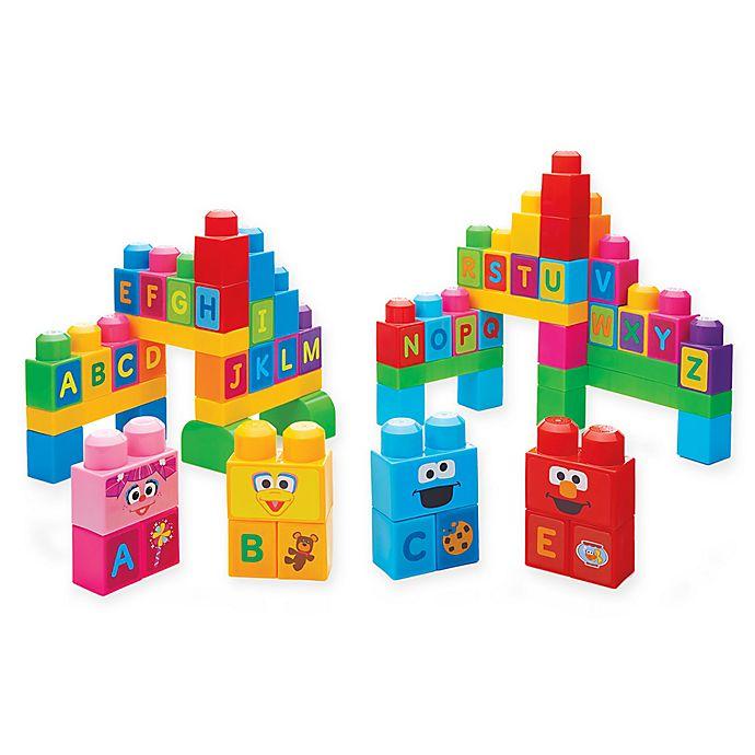 Alternate image 1 for Mega Blocks Let's Build Sesame Street 70-Piece Building Block Set