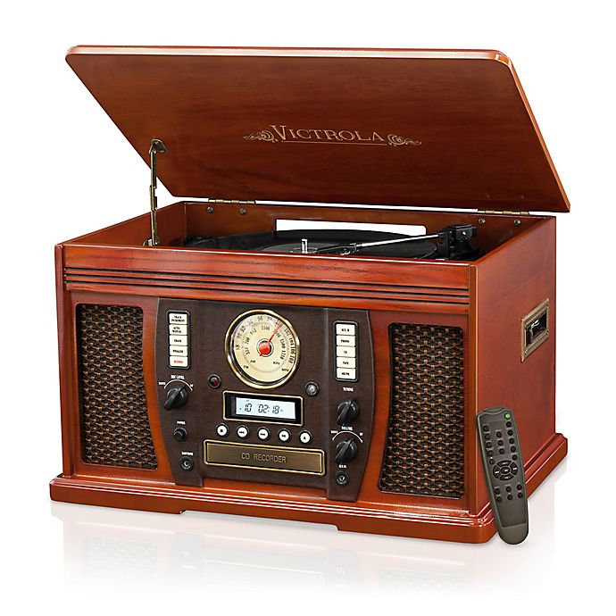 Alternate image 1 for Victrola™ Nostalgic Bluetooth Record Player in Vintage Wood
