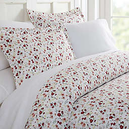 Blossoms 3-Piece King Duvet Cover Set in Pink