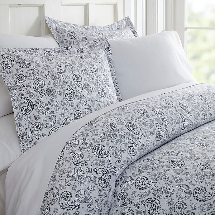 Alternate image 1 for Home Collection 3-Piece Coarse Paisley Duvet Cover Set