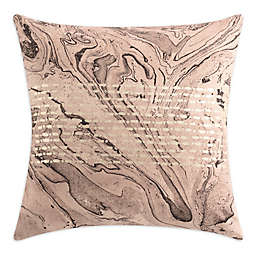 KAS ROOM Marble Square Throw Pillow in Blush