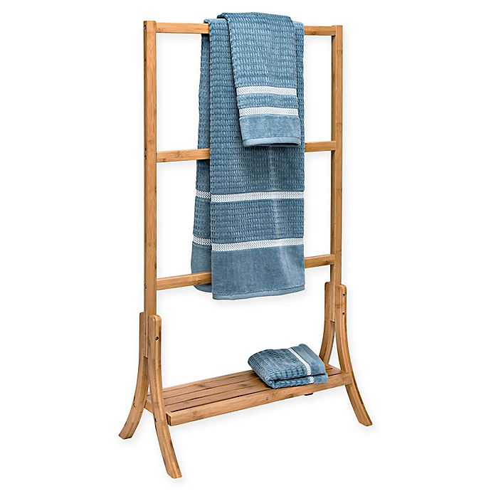 Alternate image 1 for Honey-Can-Do 4-Tier Bamboo Towel Rail